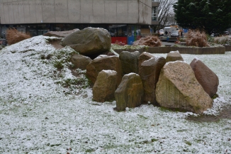 Megalith Grave covered with Snow