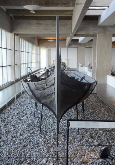 One of the Skuldelev ships which was discovered in Roskilde fjord.