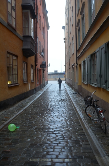 Gamla stan in rainy day (V)