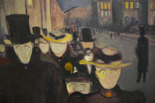 Detail of 'Aften på Karl Johan' by Edvard Munch