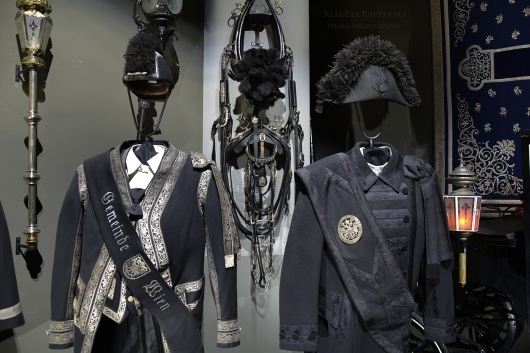 Funeral uniforms and horse harness
