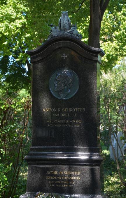 Anton Schrötter von Kristelli's grave monument