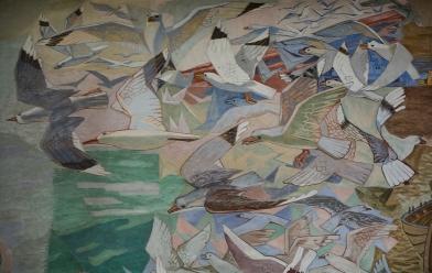 Detaljen av Alf Rolfsen maleriet
